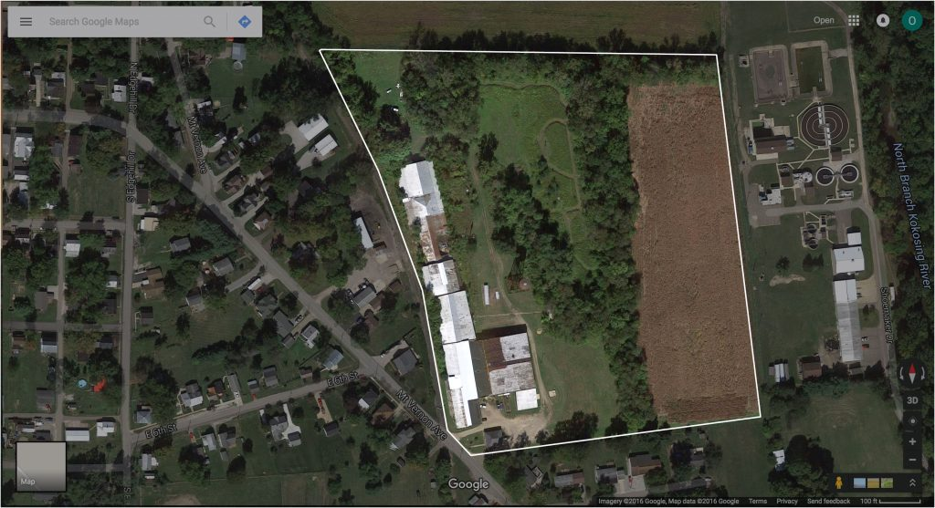 Ariel view of the 20 acres and facilities of the Artist Retreat